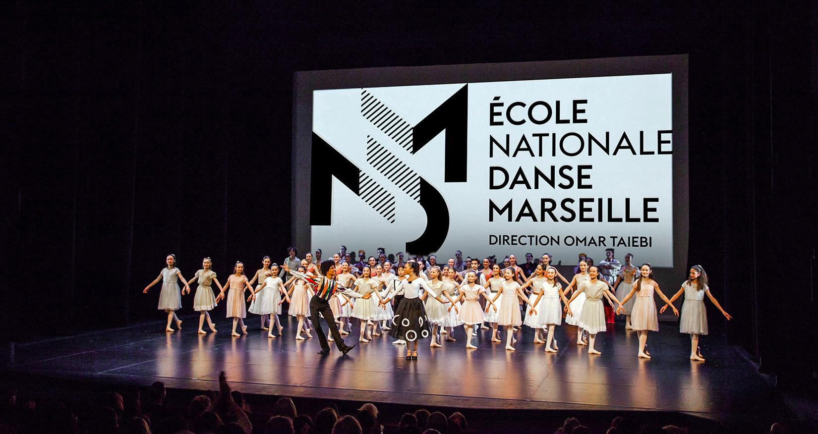 Page d'accueil du site de L'Ecole Nationale de Danse de Marseille